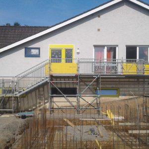 Fluchttreppenturm mit Laufsteg Am langen Rasen 1 in Beltershausen