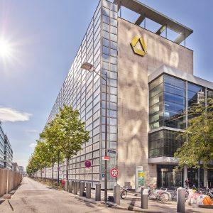 Lärmschutzwand Adam-Riese-Straße in Frankfurt