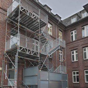 Fluchttreppentürme Gaffkystraße 9 und 14 in Gießen