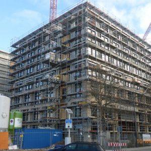 Fassadengerüst W06 und W09 Hanauer Landstraße 150 in Frankfurt