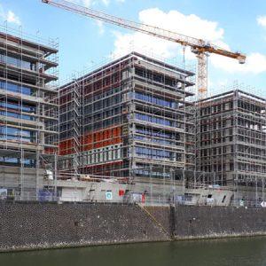 Fassadengerüst W06 und W09 Lindleystraße Dock 3 und 4 in Frankfurt