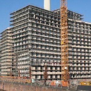 Fassadengerüst Werfthaus in Frankfurt