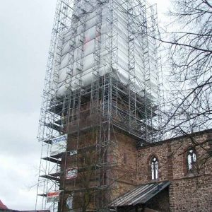 Einrüstung Totenkirche in Schwalmstadt-Treysa