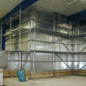 Luftdichte Staubschutzwand Engelhard Arzneimittelfabrik in Niederdorfelden