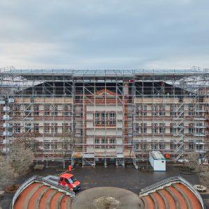 Wetterschutzdach Oranienschule Oranienstraße 5-9 in Wiesbaden
